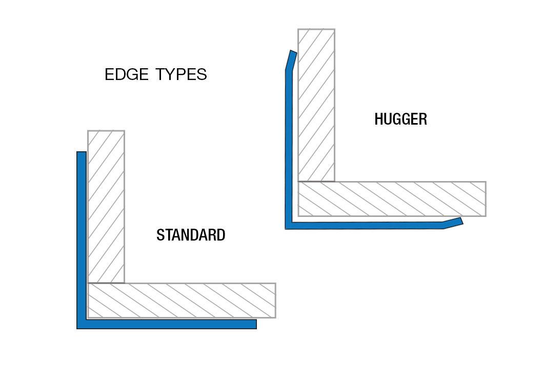"1//8/"" Aluminum Diamond Plate Corner Guards Angle 2/"" x 2/"" x 90/"""