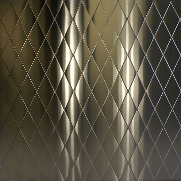 Stainless Supply Stainless Steel Diamond Quilted Pattern