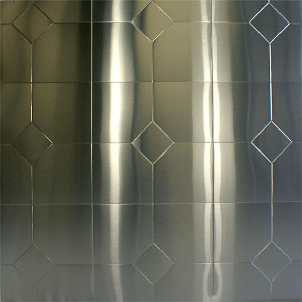 Stainless Steel Embossed Diamond Amp Square Pattern