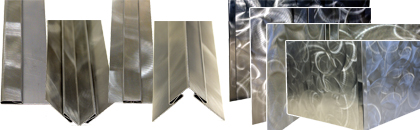 Trim Molding - 304 Stainless Random Swirl Finish