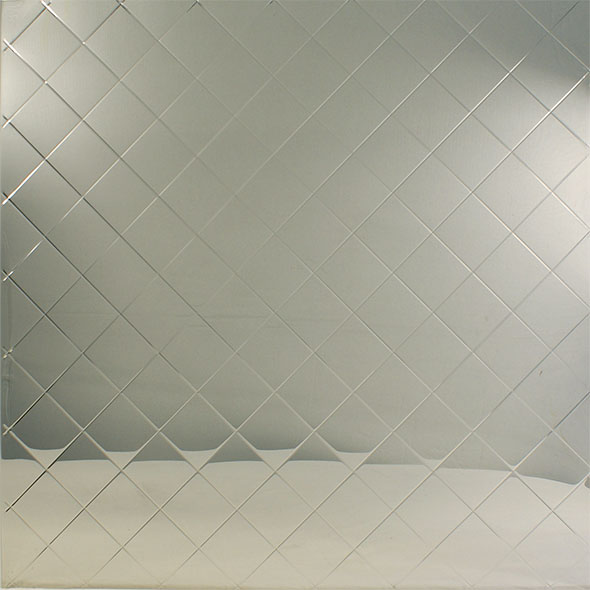 Stainless Steel Embossed Pattern - Diamond Quilted