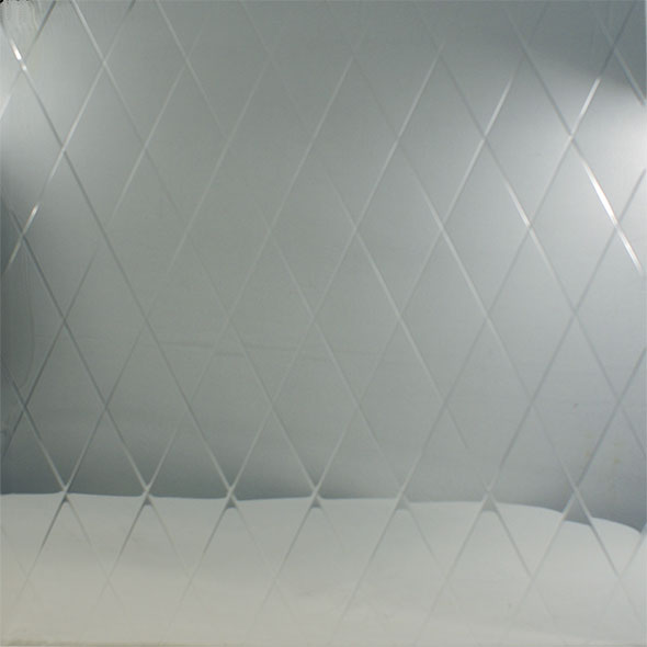Stainless Steel Embossed Pattern - Basket Weave