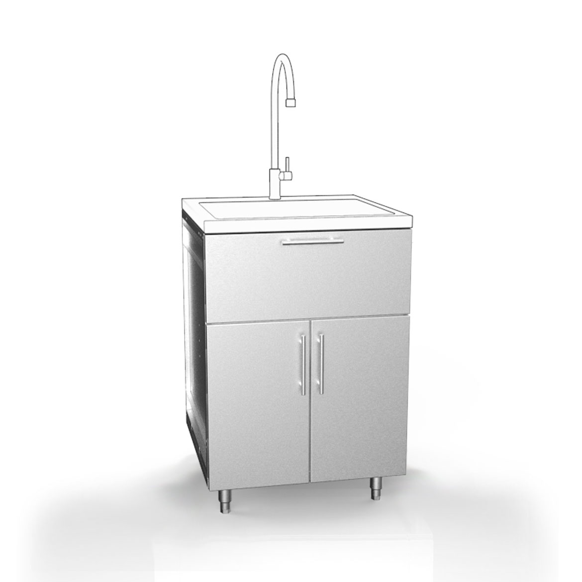 Outdoor Sinks And Cabinets: Stainless Steel Cabinets - Outdoor Cabinets