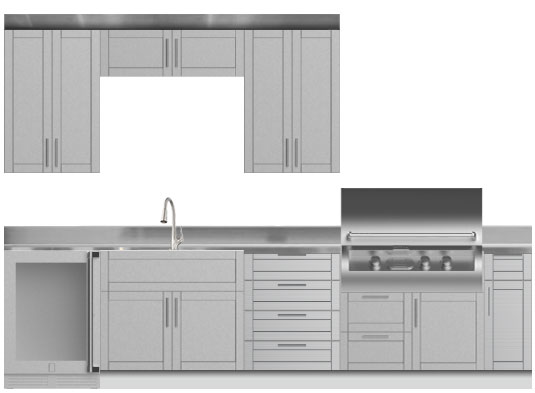 Stainless Steel Cabinets - Outdoor Kitchens